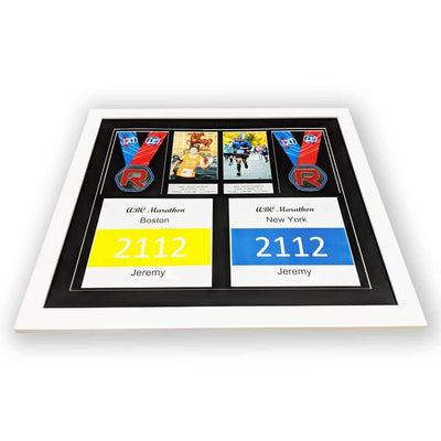 "Race Framers 21.5"" Wide By 18.5"" Tall Double Medal, Bib, Picture And Event Plaque"