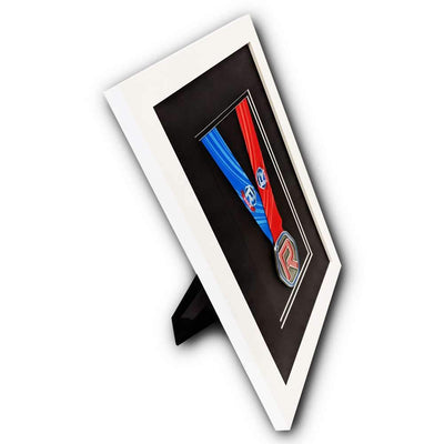 "Race Framers 11"" Wide By 15"" Tall Single Medal Desktop Frame"
