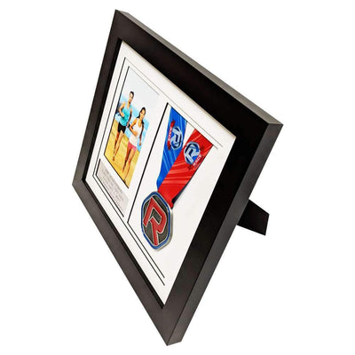 "Race Framers 12"" Wide By 10"" Tall Single Medal Desktop Frame (Holds 4"" x 6"" Photo)"