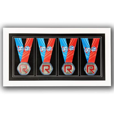 "Race Framers 22"" Wide By 11"" Tall Four Medal Wall Frame"