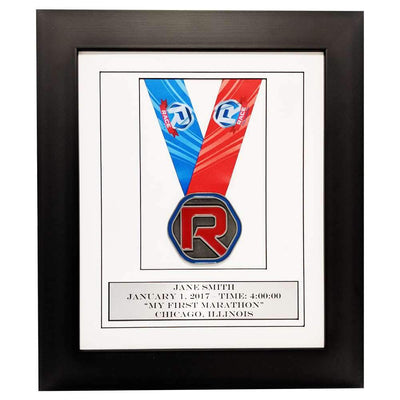 "Race Framers 10"" Wide By 12"" Tall Single Medal Wall Frame With Event Plaque"