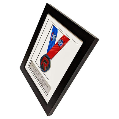"Race Framers 10"" Wide By 12"" Tall Single Medal Desktop Frame With Event Plaque"