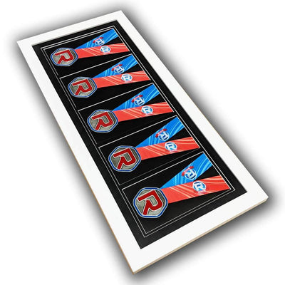 "Race Framers 27"" Wide By 11"" Tall Five Medal Wall Frame"