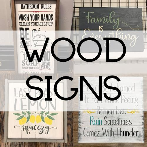 Wood Signs – Pallets by deSIGN