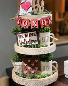 Valentines Tiered Tray