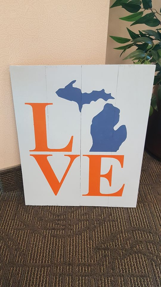 Love with Michigan 14x17