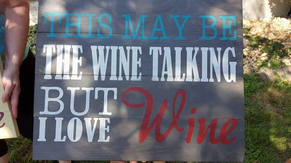 This may be the wine talking but I love wine 14x17