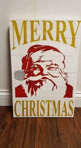 Merry Christmas-Santa face 14x20
