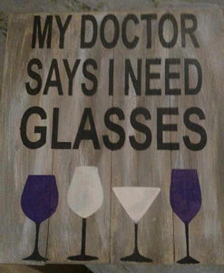 My doctor says I need glasses 14x17