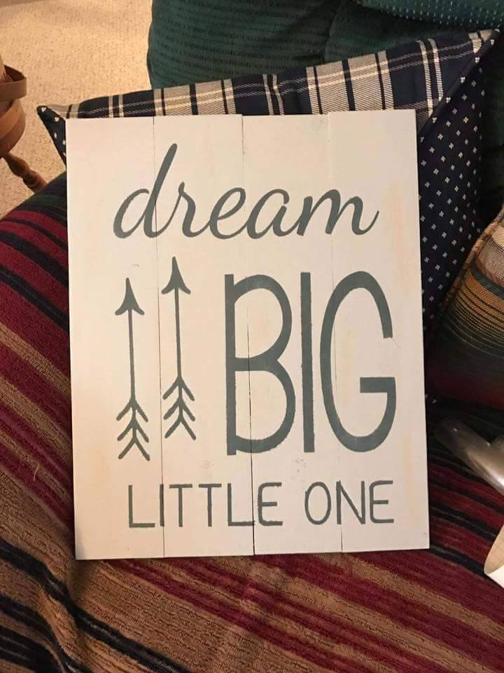 Dream big little one with arrows 14x17
