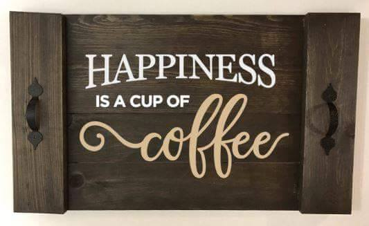 Happiness is a cup of coffee