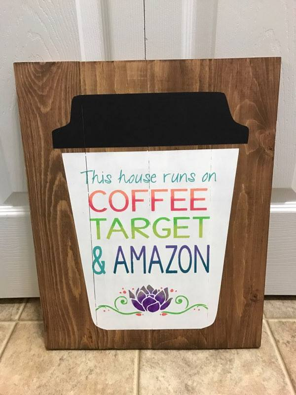 This house runs on coffee target and amazon 14x17