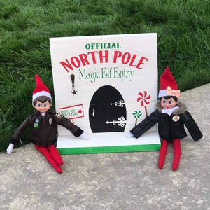 Official North Pole Magical Elf Entry (Elf on shelf) 10x10