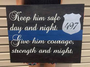 Keep him safe day and night 14x14