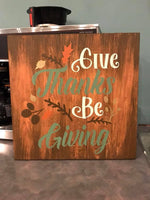 Give thanks be giving 14x14