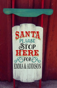 Sled - Santa Stop here for