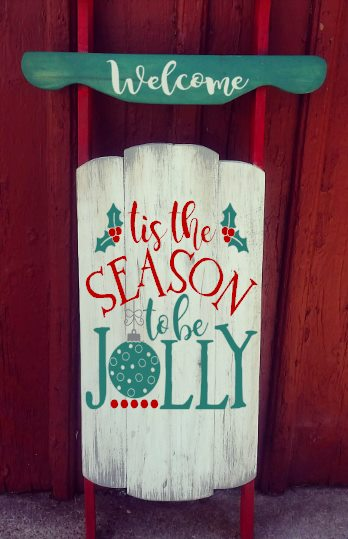 Sled- Tis the season to be jolly