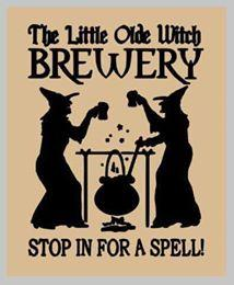 The little olde witch brewery 14x17