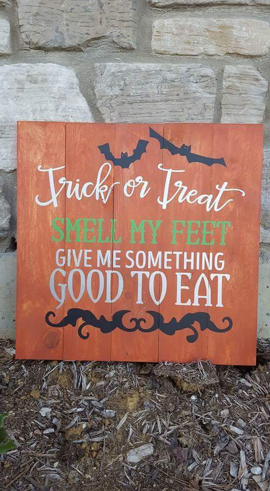 Trick or treat smell my feet 14x14