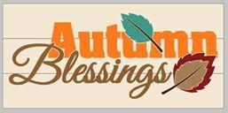 Autumn Blessings 10.5x22