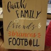 Faith family friends & (your team) football 14x17