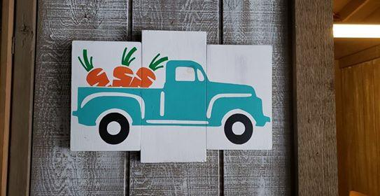 Truck with carrots 10x16