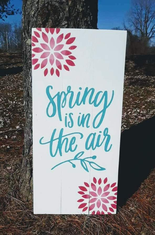 spring is in the air 10.5x22