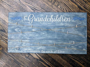Grandchildren Complete the circle of Love - Photo Board 17.5x32
