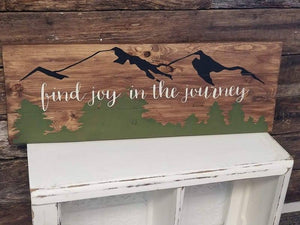 Find joy in the journey 10.5x30