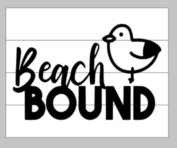 Beach Bound with bird 14x17
