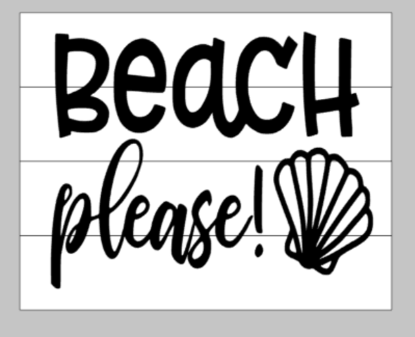 Beach please with shell 14x17
