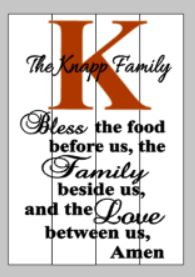 bless this food with family name and initial 14x20