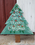 Christmas Tree - We wish you a Merry Christmas with holly berries