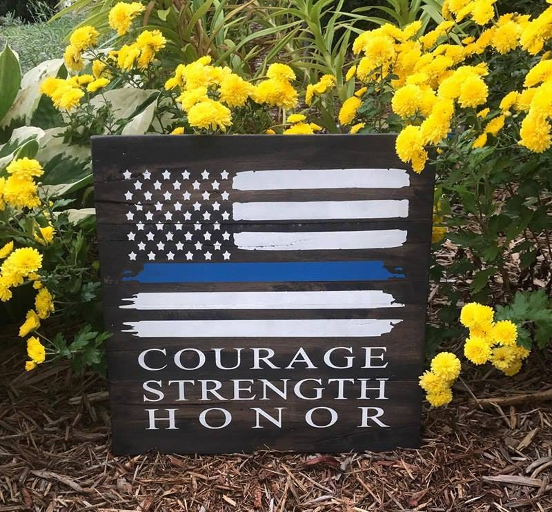 Courage Strength and Honor Flag 14x14