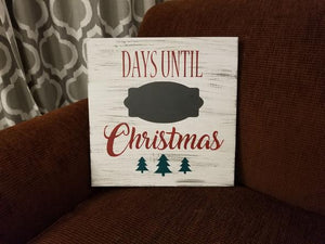 Days Till Christmas Chalkboard.Days Until Christmas Chalkboard 14x14