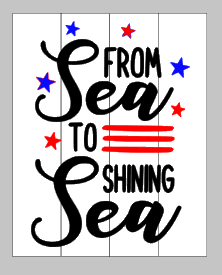 From sea to shining sea 14x17