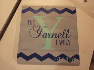 Family established Chevron 14x14