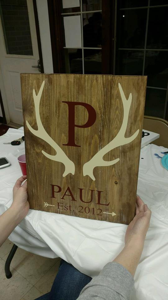 Family Established Antler Design 14x17