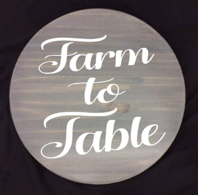 "Farm to table 15"" Round Lazy Susan"