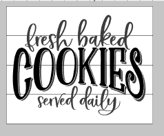 Fresh baked cookies served daily 14x17