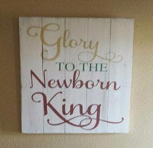 Glory to the new born king 14x14
