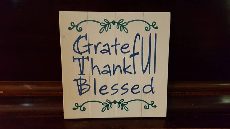 Grateful Thankful Blessed 14x14