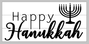 Happy Hanukkah 10.5x22
