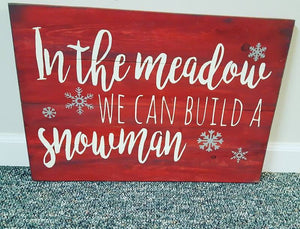 In the meadow we can build a snowman 14x20