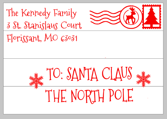 letter from santa with your address 14x20 pallets by design
