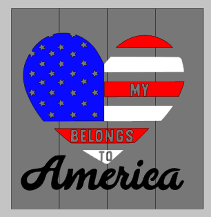 My heart belongs to America 14x14
