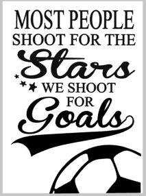 Most people shoot for the stars we shoot for the goals 14x17