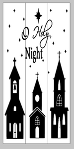 O Holy Night with buildings 10.5x22