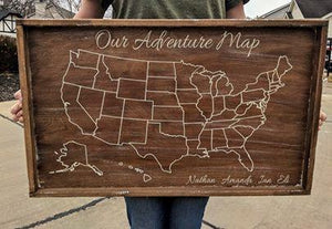 Our Adventure Map with names 18x30