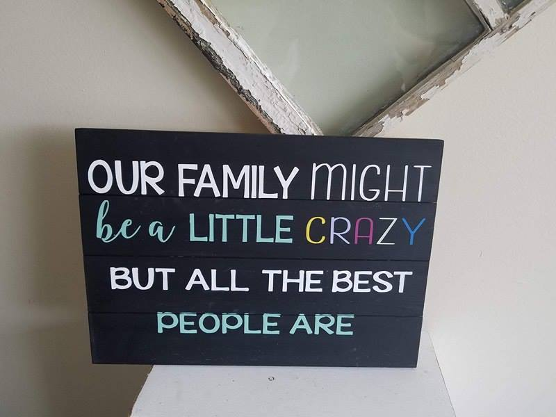 Our family might be a little crazy 14x20